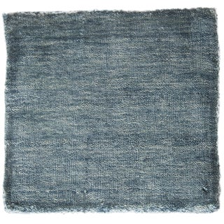 Contemporary Handmade Blue Rug - 5′ × 8′