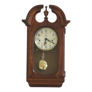 Sligh Wall Hanging Cherry Clock For Sale