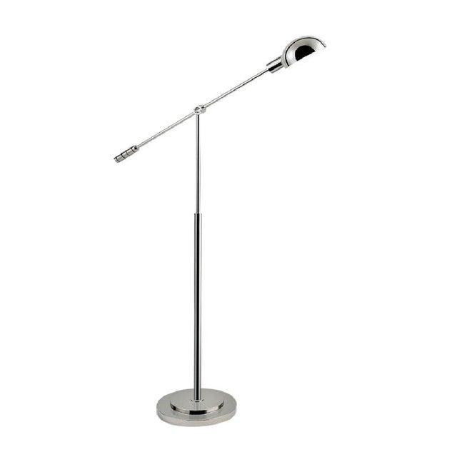 Mid-Century Modern Polished Nickel Adjustable Floor Light For Sale - Image 3 of 3
