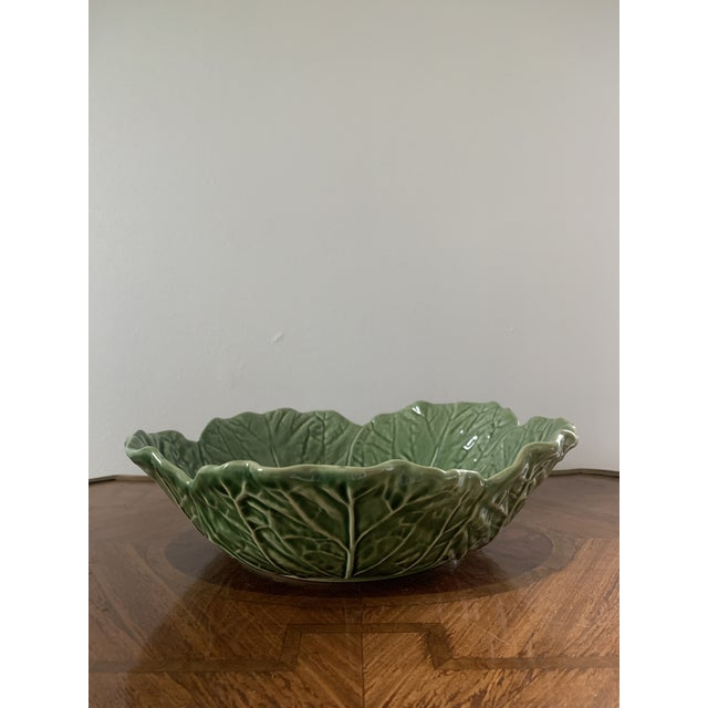 1990s Vintage Portuguese Ceramic Cabbage Bowl For Sale - Image 5 of 6