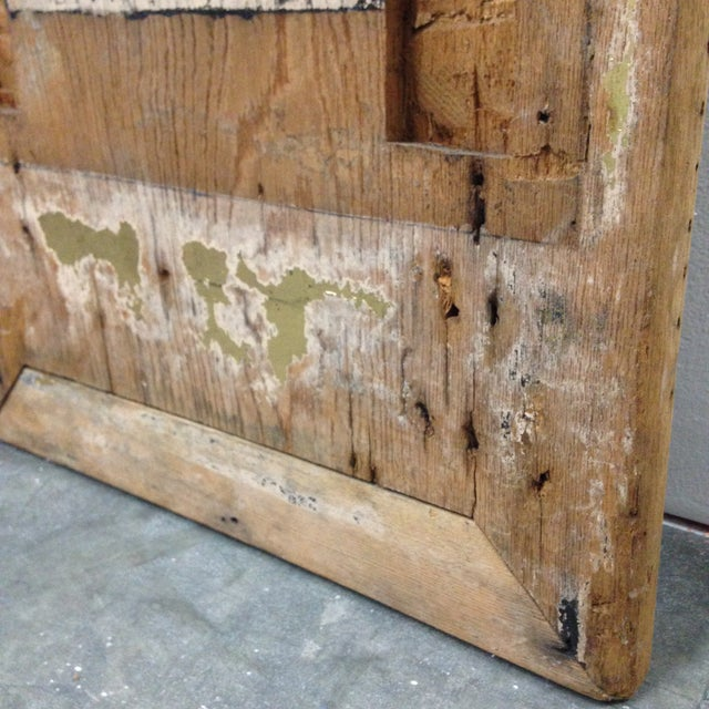 Wood Antique Rustic Asian Wood Panel For Sale - Image 7 of 11