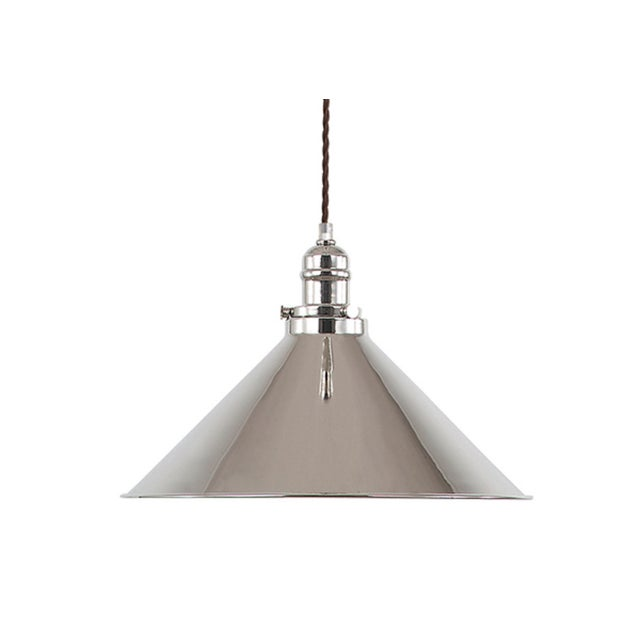 Provence Rise & Fall Polished Nickel Pendant For Sale In Baton Rouge - Image 6 of 6