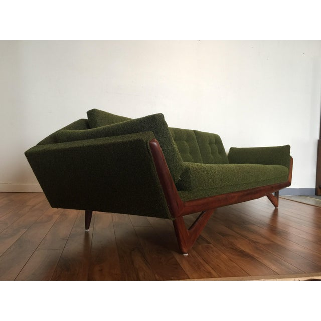 Adrian Pearsall Craft Associates Mid-Century Gondola Sofa - Image 3 of 11
