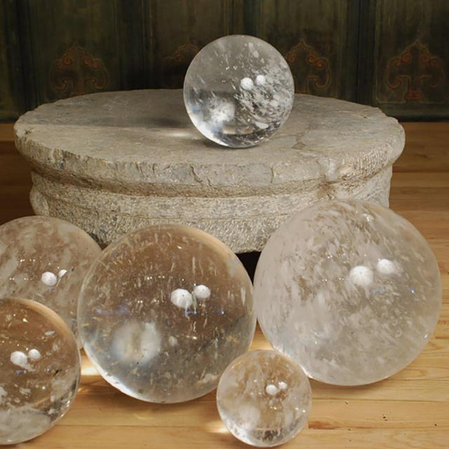 """10"""" Rock Crystal Sphere For Sale - Image 4 of 5"""