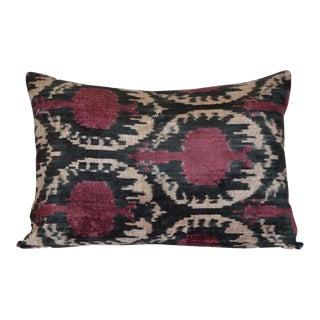 """""""Paty"""" Ikat Silk Velvet Pillow"""