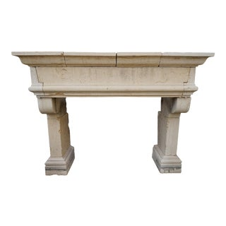 Antique Limestone Mantel, circa 1820 For Sale
