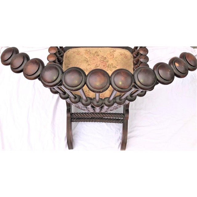 "Late 19th Century George Hunzinger Highback ""Lollipop"" Platform Rocking Chair For Sale - Image 11 of 13"