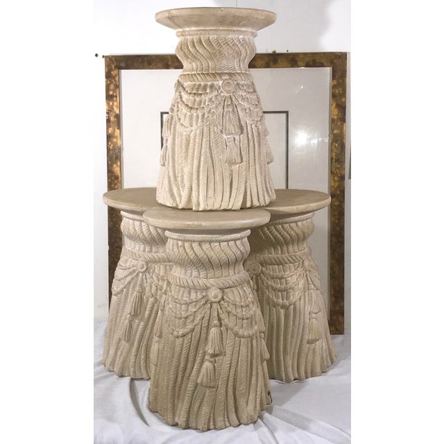 Late 20th Century Hollywood Regency Tassel Fringe Rope Side Tables- Set of 4 For Sale - Image 10 of 10