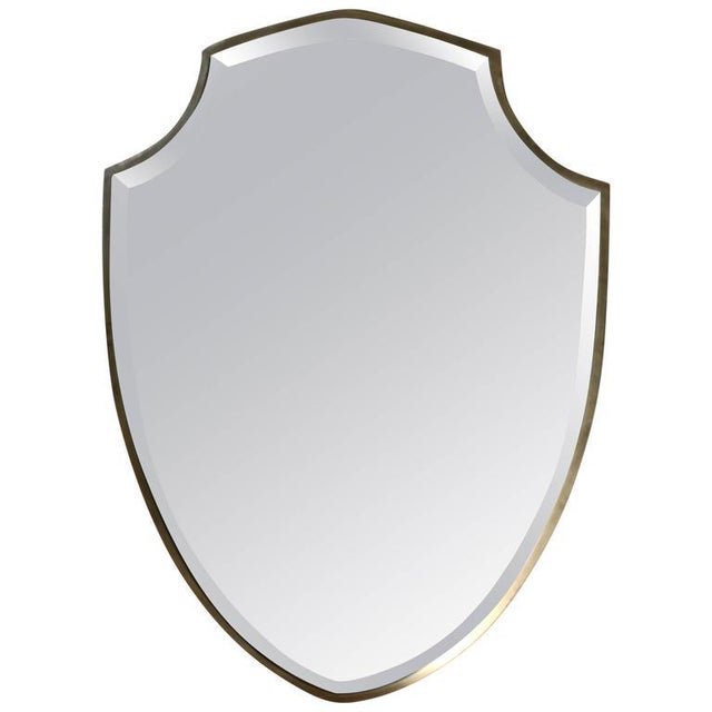 1990s Transitional Shield Mirror For Sale - Image 4 of 4