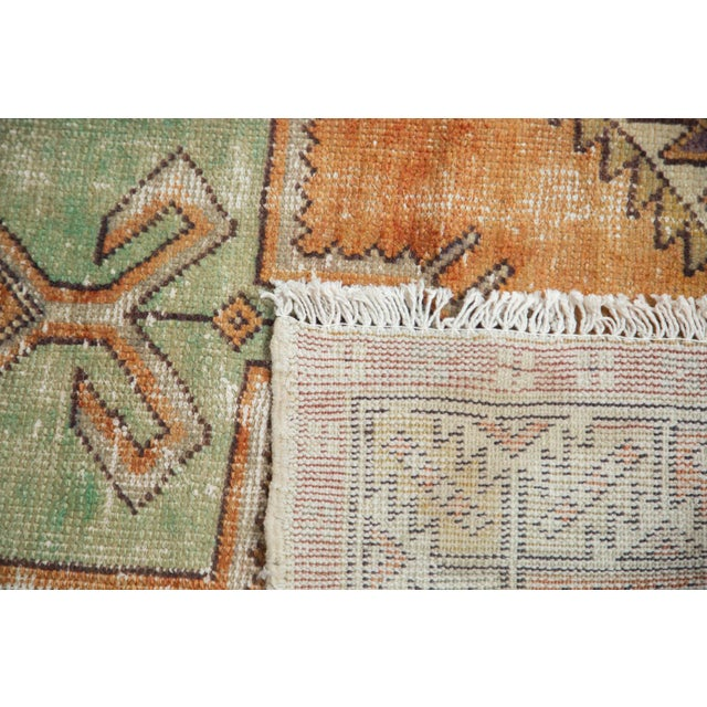 """Vintage Distressed Oushak Rug - 3'11"""" X 8'3"""" For Sale In New York - Image 6 of 11"""