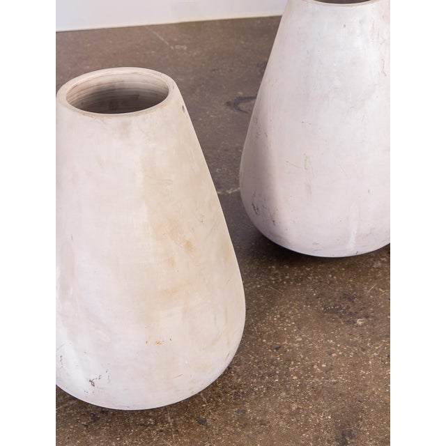 Mid-Century White Teardrop Planters- A Pair For Sale - Image 4 of 7