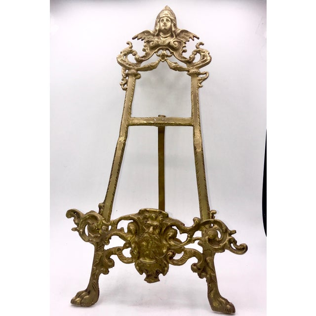 Early 20th Century Antique Gothic Brass Book Stand For Sale - Image 4 of 9