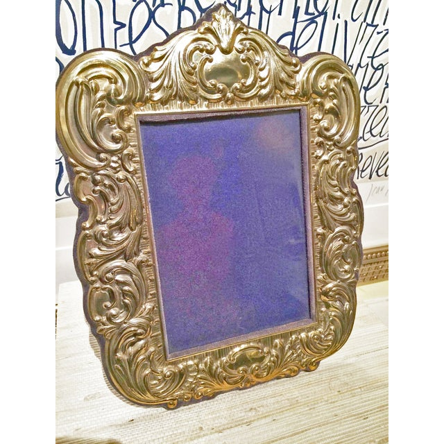 Sterling Vermeil Picture Frame - Image 2 of 3