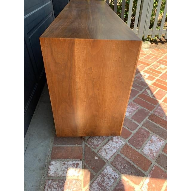 MCM Lane 9-Drawer Dresser With Chevron Drawers For Sale In Los Angeles - Image 6 of 9