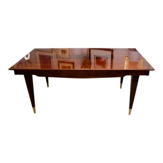 Mid-Century Modern Dining Room Table Lacquered Extension Leaves For Sale