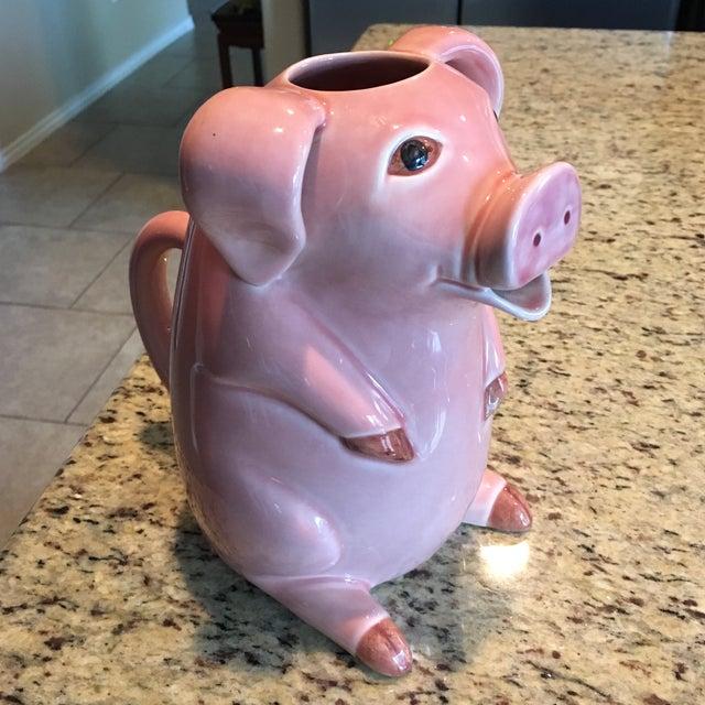 Sur La Table Pink Pig Water Juice Pitcher Carafe Jug For Sale - Image 10 of 11