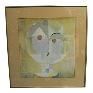 Vintage Mid Century Head of a Man Framed Print by Paul Klee For Sale