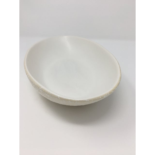 White Mid-Century Modern Winter White Pottery Collection - 3 Pieces For Sale - Image 8 of 13