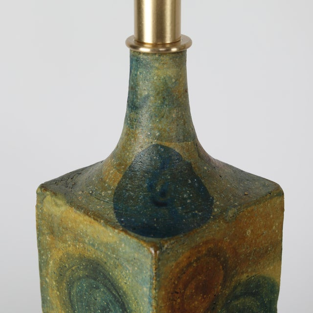 Marcello Fantoni 1960's Vintage Marcello Fantoni Ceramic Table Lamps- A Pair For Sale - Image 4 of 13
