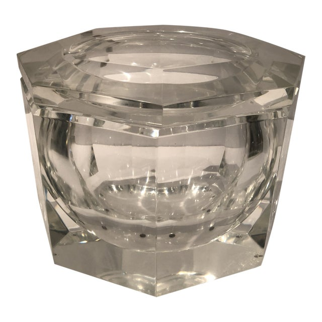 1970's Lucite Ice Bucket by Alessandro Albrizzi For Sale