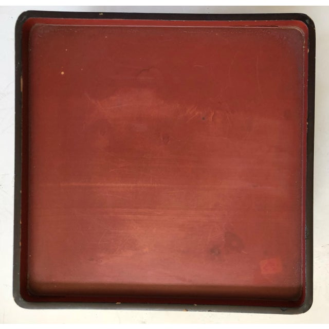 Wood Japanese Lacquered Nesting Tables For Sale - Image 7 of 11