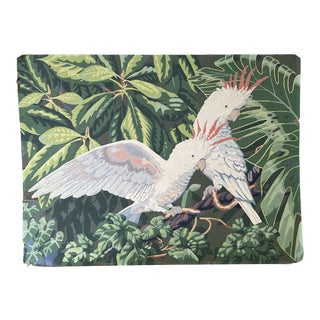 Mid-Century Cockatoo Painting For Sale