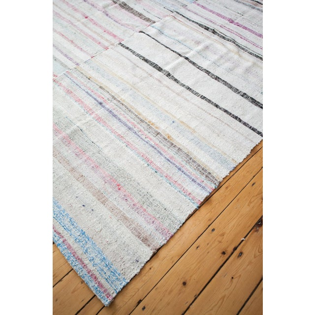 "Vintage Cotton Area Rag Rug - 7'10"" x 8'7"" - Image 3 of 9"