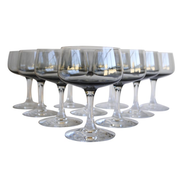 Vintage Champagne Coupes, Set of 10 - Image 1 of 6