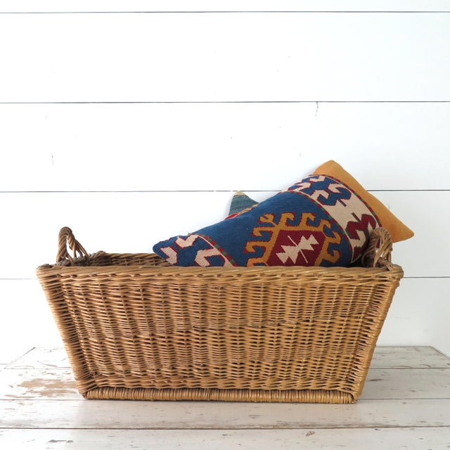 Cottage Vintage French Laundry Basket For Sale - Image 3 of 8