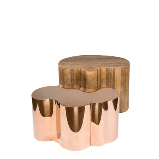Contemporary Kate and Portia Coffee Table Set - 2 Pieces For Sale