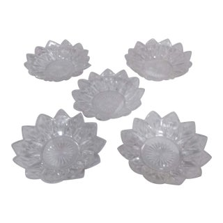 1930s Vintage Art Deco Petal Plates-Set of 5 For Sale