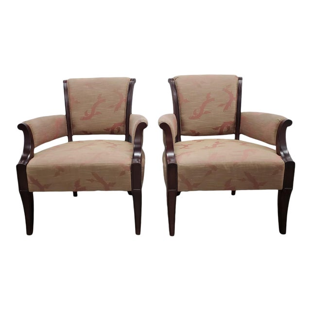 Chic Barbara Barry Lounge Chairs for Baker Furniture - a Pair For Sale