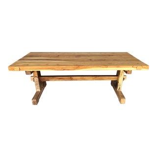 Custom Monkey Pod Slab Dining Table For Sale