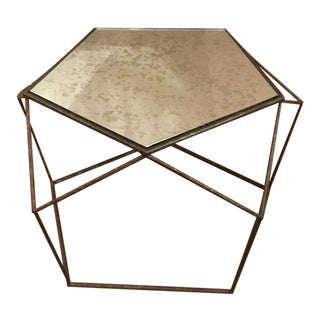 Currey & Co. Industrial Modern Geometric Axiom Coffee Table For Sale