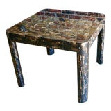 Image of Vintage Tessellated Horn Game Table For Sale