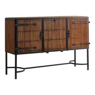 French 1950's Bamboo Buffet Attributed to Adrien Audoux and Frida Minet For Sale