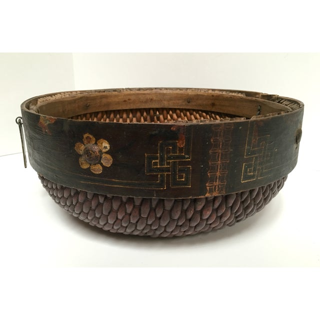 Hand Woven African Folk Art Basket - Image 2 of 10