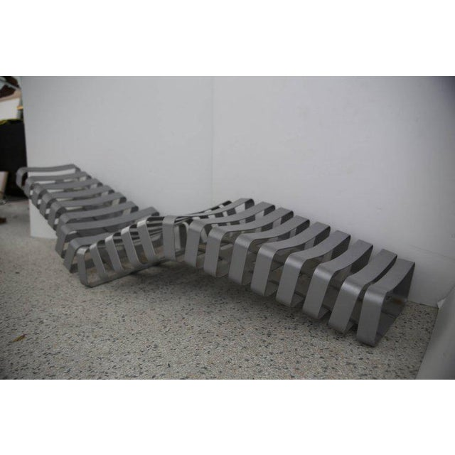 Modern Artisan Garden Chaise in Powder Coated Metal For Sale - Image 13 of 13