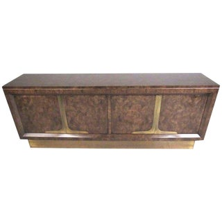Wiliam Doezema Mastercraft Burl Wood Credenza For Sale