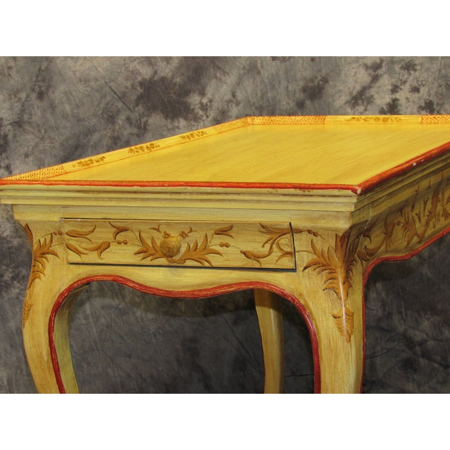 Italian Vintage Hand Painted End Table For Sale - Image 4 of 7