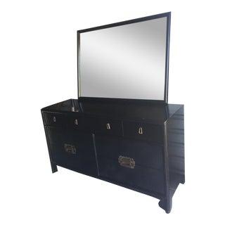 1950s Vintage Hickory Furniture Dresser & Mirror - 2 Pieces For Sale