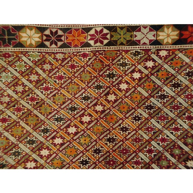 Vintage Persian rug featuring a beautiful geometric pattern. 100% handmade, wool pile. Excellent condition, ready to be...