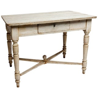 Painted French Pine Table For Sale