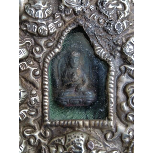 Vintage Traveling Silver Buddhist Shrine - Image 7 of 7