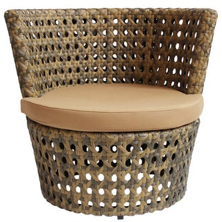 Outdoor Faux Rattan Side Chair