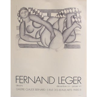 1971 Original French Exhibition Poster - Fernand Léger Dessins at Galerie Claude Bernard For Sale