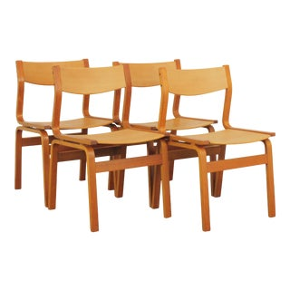 1970s Vintage Arne Jacobsen St.Catherine's Style Chairs - Set of 4 For Sale