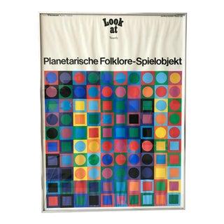 Victor Vasarely Planetarische Folklore Spielobjekt Print For Sale