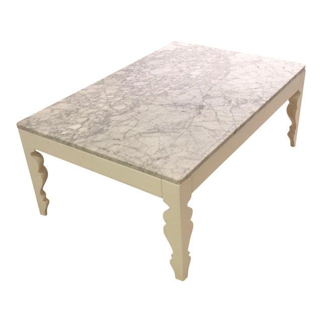 Arhaus Marble Coffee Table - Image 1 of 5