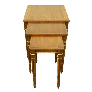 1960s Italian Heritage Furniture Nesting End Tables - Set of 3 For Sale